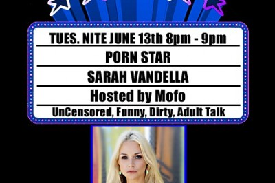 Sarah Vandella Guests on CannaPornia Show Tuesday Night on L.A. Talk Radio
