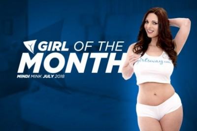 Mindi Mink Selected as Girlsway Girl of the Month for July 2018